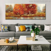 Grassland Abstract Modern Landscape Hand Painted Painting Canvas Print for Living Room Wall Disposition