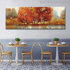 Grassland Abstract Modern Landscape Hand Painted Painting Canvas Print for Dining Room Wall Drape