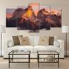 Andes Mountains Landscape Modern Artwork Portrait Canvas Print for Room Wall Garniture