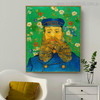 Joseph Roulin Vincent Van Gogh Impressionist Reproduction Portrait Print for Living Room Wall Decor