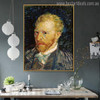 Self-Portrait Vincent Van Gogh Impressionist Reproduction Figure Painting Print for Room Wall Decor