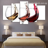 Wine Glasses Contemporary Food and Beverages Modern Framed Painting Image Canvas Print For Room Wall Garniture