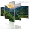 Green Hills Botanical Landscape Modern Framed Effigy Image Canvas Print