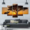 Rumbling Elephant Animal Landscape Modern Framed Painting Pic Canvas Print for Room Wall Décor