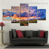 Arizona Desertscape Landscape Modern Framed Painting Pic Canvas Print for Room Wall Drape