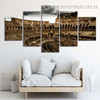 Colosseum Architecture Cityscape Vintage Framed Effigy Print for Room Wall Garniture