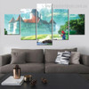 Beautiful Castle Architectural Landscape Modern Framed Painting Pic Canvas Print for Room Wall Drape