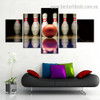 Ten Pin Bowling Abstract Sports Modern Framed Portraiture Image Canvas Print for Room Wall Arrangement