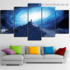 Sky Mountain Landscape Nature Modern Artwork Photo Canvas Print for Room Wall Decoration