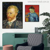 Schoolboy and Self-Portrait Vincent Van Gogh Impressionist Reproduction Figure Painting Canvas Print for Living Room Wall Outfit