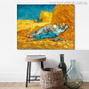The Siesta Vincent Van Gogh Impressionist Landscape Reproduction Painting Canvas Print for Room Wall Onlay