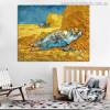 The Siesta Vincent Van Gogh Impressionist Landscape Reproduction Painting Canvas Print for Room Decor