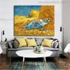 The Siesta Vincent Van Gogh Impressionist Landscape Reproduction Painting Canvas Print