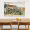 Drying House at Scheveningen Vincent Van Gogh Impressionist Cityscape Reproduction Painting Canvas Print for Dining Room Wall Decoration