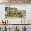 Drying House at Scheveningen Vincent Van Gogh Impressionist Cityscape Reproduction Painting Canvas Print for Hotel Wall Getup