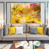 Chromatic Shade Abstract Modern Painting Picture Canvas Print for Living Room Wall Getup