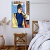 Portrait of Madeleine Bernard Eugène Henri Paul Gauguin Figure Impressionist Artwork Photo Canvas Print for Room Wall Décor