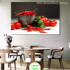 Food & Beverage Red Chilli Food & Beverage Modern Portrait Canvas Print for Dining Room Wall Decor