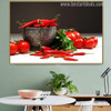 Red Chilli Food & Beverage Modern Portrait Canvas Print for Wall Onlay