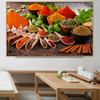 Indian Spices Food & Beverage Modern Picture Canvas Print for Room Wall Getup