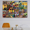 August Collage Expressionism Portraiture Photo Canvas Print for Room Wall Onlay