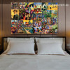 August Collage Expressionism Portraiture Portrait Canvas Print for Room Wall Garnish