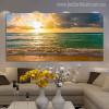 Sea Shore Seascape Modern Landscape Picture Canvas Print for Living Room Wall Drape