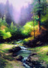 Creekside Trail Reproduction Painting Canvas Print