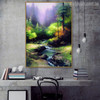 Creekside Trail Reproduction Painting Canvas Print for Study Room Wall Getup