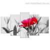 Beautiful Rose Flower Botanical Modern Split Effigy Image Multi Piece Canvas Print