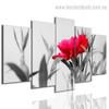 Beautiful Rose Flower Botanical Modern Split Effigy Photo Multi Piece Canvas Print