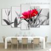 Beautiful Rose Flower Botanical Modern Split Effigy Pic Multi Piece Canvas Print for Room Wall Drape