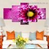Blossom Flower Botanical Modern Artwork Split Canvas Print for Room Wall Decoration
