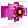 Blossom Flower Botanical Modern Artwork Split Canvas Print for Room Wall Garniture