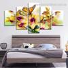 Danaus Plexippus Animal Botanical Modern Smudge Pic Split Canvas Print for Room Wall Drape
