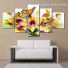 Danaus Plexippus Animal Botanical Modern Smudge Picture Split Canvas Print for Room Wall Decor