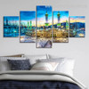 Masjid al Haram Religion And Spirituality Cityscape Modern Portraiture Picture 5 Piece Canvas Prints Online for Room Wall Decor