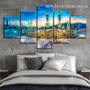 Masjid al Haram Religion And Spirituality Cityscape Modern Portraiture Pic 5 Piece Canvas Prints Online for Room Wall Arrangement