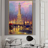 Winter at the Water Tower Cityscape Reproduction Painting Canvas Print for Lounge Room Wall Onlay