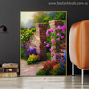 The Rose Garden Botanical Reproduction Painting Canvas Print for Wall Getup