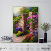 The Rose Garden Botanical Reproduction Painting Canvas Print for Wall Outfit