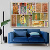 Gustav Klimt Collage Symbolism Reproduction Artwork Picture Canvas Print for Room Wall Ornament