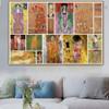 Gustav Klimt Collage I Symbolism Reproduction Artwork Photo Canvas Print for Room Wall Adornment