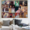 Gustav Klimt Collage III Symbolism Reproduction Artwork Picture Canvas Print for Room Wall Garniture