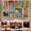 Gustav Klimt Collage X Symbolism Reproduction Artwork Picture Canvas Print for Room Wall Ornament