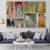 Gustav Klimt Collage X Symbolism Reproduction Artwork Photo Canvas Print for Room Wall Adornment