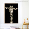 Sleeping Giraffe Modern Animal Portrait Canvas Print for Wall Getup