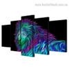 3D Lion Abstract Animal Large Split Canvas Portraiture Picture Print
