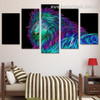3D Lion Abstract Animal Large Split Canvas Portraiture Portrait Print For Room Wall Onlay
