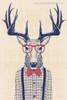 Stag Contemporary Animal Canvas Artwork Image Print